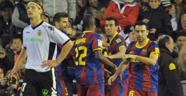 Messi gana más de media Liga en Mestalla