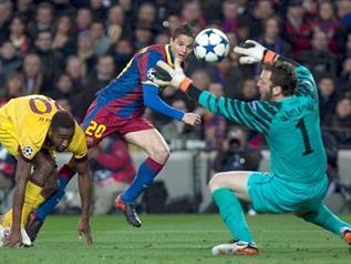 Pese al baño de fútbol que le pegó al Arsenal, el Barcelona sufrió más de la cuenta para eliminar al conjunto inglés en el Camp Nou. - 2
