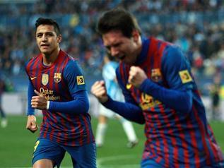 El Barcelona se da un festival de goles en la Rosaleda frente al Málaga (1-4) después de la gran actuación de Messi, que hizo tres tantos. - 2
